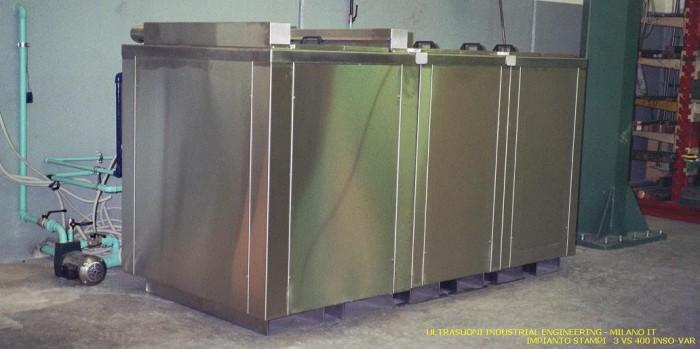 Lavaggio con ultrasuoni industriali