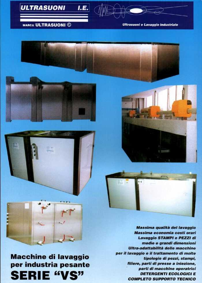 Macchine e impianti di lavaggio per industria, stampi e grandi superfici metalliche