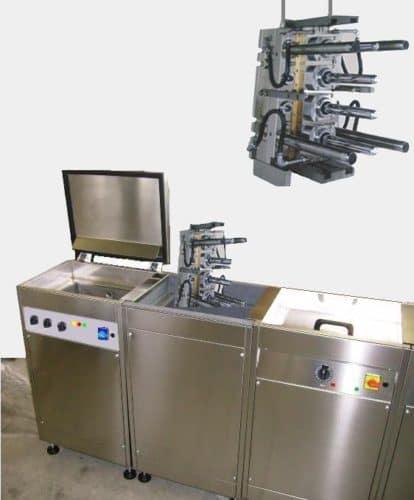 pulizia stampi con lavatrice ultrasuoni